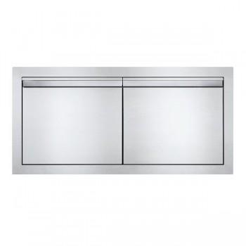 Встраиваемая дверь двустворчатая, поперечная 91х41 см