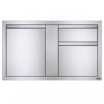 Встраиваемый элемент с 2-мя выдвижными ящиками и отсеком с дверью, большой 107х61 см