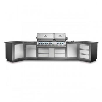 Конфигурация летней модульной кухни Napoleon Oasis-400