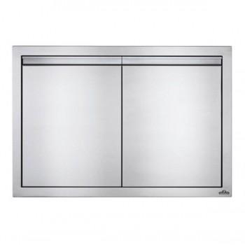 Встраиваемая дверь двустворчатая, большая 91х61 см