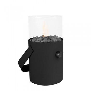 Настольный газовый мини-камин (фонарь) Cosiscoop black - черный
