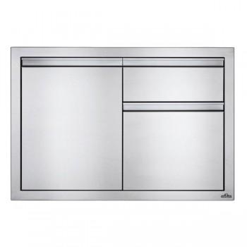 Встраиваемый элемент с 2-мя выдвижными ящиками и отсеком с дверью, малый 91х61 см