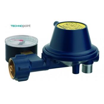 Регулятор GOK Marine угол 90° тип EN61 низкого давления с манометром 30 мбар 0,8 кг/ч, 01 280 14