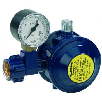 Регулятор GOK Marine низкого давления угол 90° тип EN61DS 30 мбар 1,5 кг/ч 01 290 17 с манометром