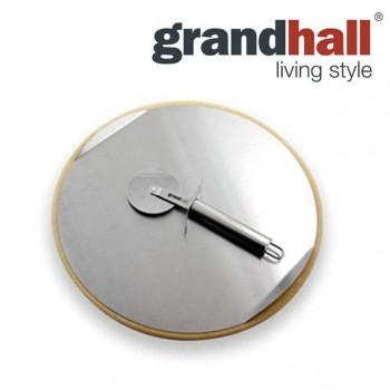 Камінь для піци з ножем та стальним підносом Grandhall 33 см