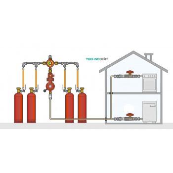 Газобаллонная установка GOK на 4 баллона с редуктором  4 кг/час 37 мбар автоматический переключатель