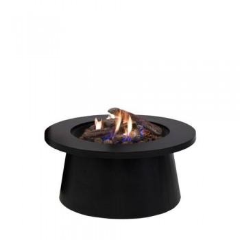 Уличный cтол - газовый камин Cosiglobe black (черный)