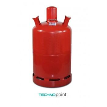 Металлический газовый баллон 27 литров от производителя G.L.I. ФРАНЦИЯ вентиль KLF с предохранительным клапаном