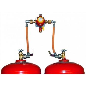 Газобаллонная установка GOK на 2 баллона с редуктором  4 кг/час 30 мбар автоматический переключатель - econom
