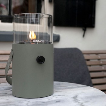 Настольный газовый мини-камин (фонарь) Cosiscoop ivory - серый