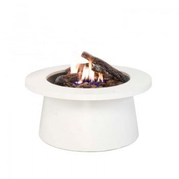 Уличный cтол - газовый камин Cosiglobe white (белый)